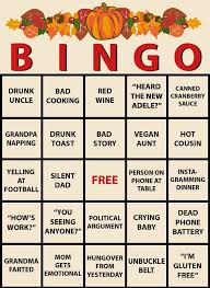we made a thanksgiving dinner bingo you can play along with