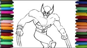 how to color x men wolverine learning coloring pages for