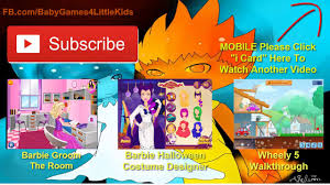 halloween games for kids to play super barbie halloween dress up