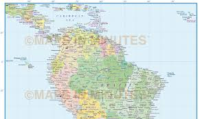 Map Of South America In Spanish South America Political Map Political Map Of South America South