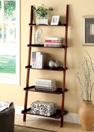 Bookcase Shelves Amazon Com Furniture Of America Klaudalie 5 Tier Ladder Style
