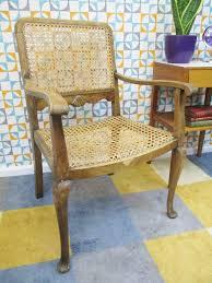 vintage 1930 s art deco wooden rattan chair bedroom hall retro vintage 1930s art deco wooden rattan chair bedroom