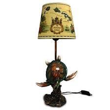 honu turtle lamp with vintage hawaiian shade u2013 banyan trading