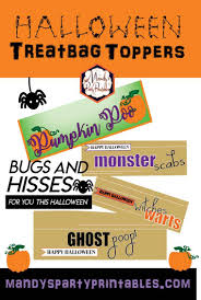 free halloween treatbag toppers mandy u0027s party printables