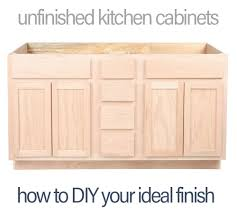 Unfinished Cabinets Kitchen Unfinished Kitchen Cabinets How To Diy And Save Money Surplus