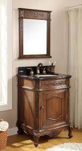 Vintage Bathroom Cabinet Decorative Small Vintage Bathroom Vanities With Solid Walnut
