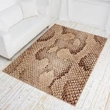 designer teppich designer teppich safari line kurzflor teppich mit tierfell