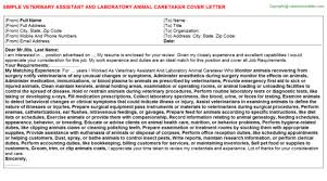 animal care assistant cover letter