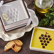 practical wedding favors vineyard select olive and balsamic vinegar dipping plate