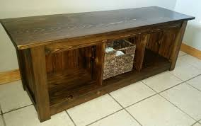 stunning rustic storage bench rustic entryway storage bench home