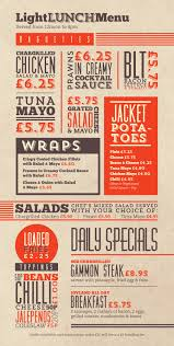 american diner joyland restaurant menu presentation ideas