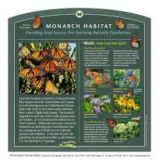 outdoor interpretive nature trail sign in insect u0026 pollinator