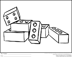 lego block coloring pages with eson me