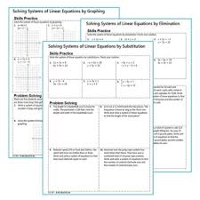 of linear equations homework worksheets skills practice u0026 word