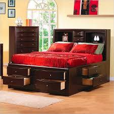 queen platform storage bed with bookcase headboard prepac brisbane