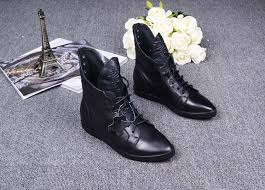 s boots with laces black s flat heels genuine leather ankle boots pointed toe