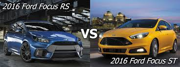 difference between ford focus models ford focus st vs focus rs