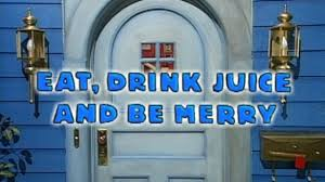 bear in the big blue house eat drink juice and be merry video