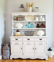 farmhouse hutch chalk paint makeover hometalk