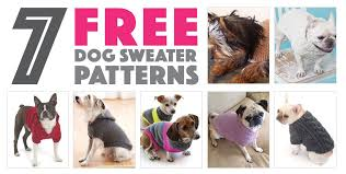 sweater with dogs on it seven free sweater patterns the
