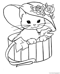 cute kitten coloring pages getcoloringpages