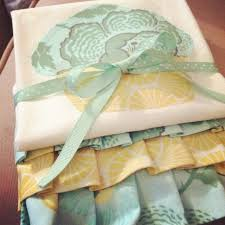 machine embroidery designs for kitchen towels mint green yellow ruffled tea towel for spring mint green