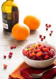 cranberry sauce with port and oranges just a bit of bacon