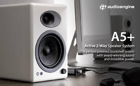 Bookshelf Powered Speakers Amazon Com Audioengine A5 Premium Powered Speaker Pair White