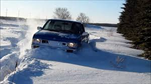 1995 nissan truck 1995 nissan hardbody 4x4 in the deep snow youtube