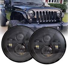 jeep lights on top amazon com lx light 7 u0027 u0027 round black cree led headlight high low