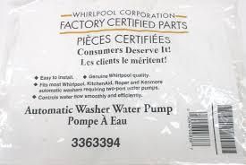 Whirlpool Washer Water Pump Replacement Wp3363394 Genuine Whirlpool Kenmore Fsp Washer Washing Machine