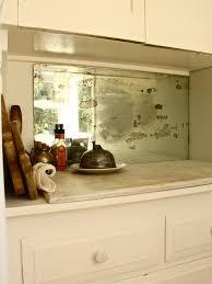 antique mirror backsplash houzz