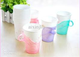disposable cups 2017 paper cup holder disposable cups prop plastic teacup