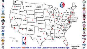 nba divisions map nba teams map history and culture