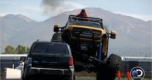 seattle monster truck show former seattle seahawks player marshawn lynch runs over jeep with