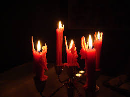 free picture spooky halloween candles dark