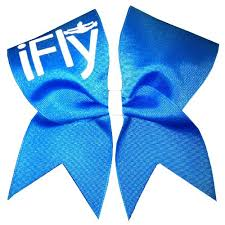 blue bows new ifly cheer bow neon blue cheerleading