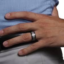 black zirconium wedding bands navarro black zirconium meteorite ring lashbrook 849 00