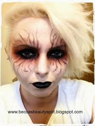 rebeccadurrans crazy goth witch demon halloween makeup