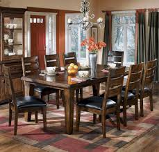 dining room extension tables amazon com rustic burnished dark brown larchmont dining room