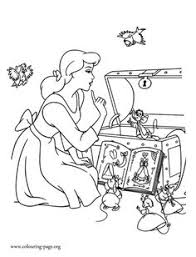 coloring pages cinderella u003e coloring books