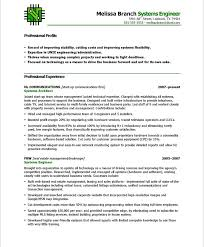 Sample Resume For Software Engineer With 1 Year Experience by Systems Engineer Resume Samples U0026 Examples