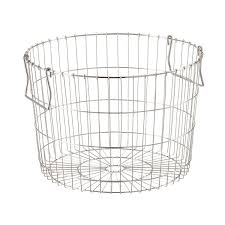 round silver wire storage basket the container store