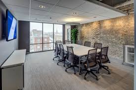 meeting room light grey striped pattern rug area brown fabric home