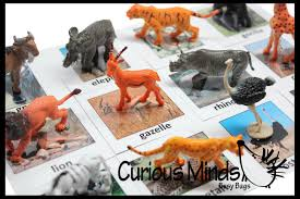 montessori animal match miniature animals with matching cards 2
