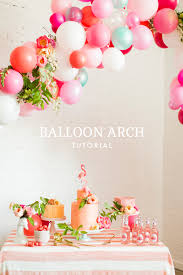 diy balloon garland with florals awesome party decor balloon