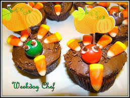 weather for thanksgiving weekday chef turkey cupcakes and scarecrow cupcakes for