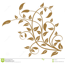 allover leaf stencil pattern drawing of leaves pattern in a