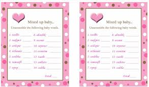 free printable baby shower games with answer key barberryfieldcom