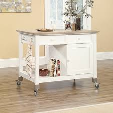 mobile kitchen island sauder mobile kitchen island soft white 416879